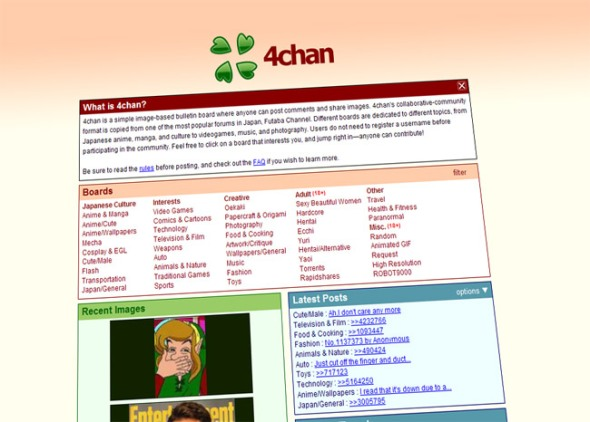 Caption of 4chan.org